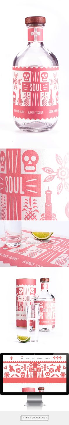 SOUL Tequila on Behance by Lauren Jennings curated by Packaging Diva PD. Missed this packaging fun for Halloween : )