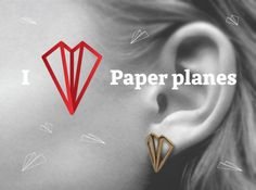 Paper Plane -earrings (SQBSENT24) by ColorsofBirch
