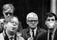 "Dennis Hopper: ""Andy Warhol, Henry Geldzahler, David Hockney, and Jeff Goodman"", 1963, USA   © The Dennis Hopper Art Trust/Courtesy of The Dennis Hopper Art Trust"