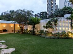 Garden lightnig ideas CSF House in Sao Paulo by Felipe Hess | Yellowtrace
