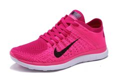 another chance 1cd42 83cd3 Nike WMNS Free 4.0 Flyknit Pink Flash Club Pink Fushcia Black White