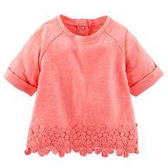 Baby Girl OshKosh B'gosh® Crochet Knit Top