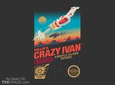 Crazy Ivan T-Shirt - http://teecraze.com/crazy-ivan-t-shirt/ -  Designed by victorsbeard    #tshirt #art #fashion #firefly