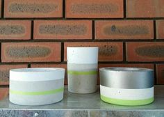 Concrete pots. Calm Collection. New to Ash&Lime and soon to be available on the website.   Photo credit to Ash&Lime
