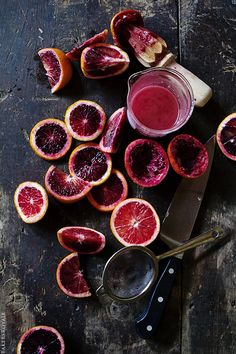 Blood Orange Juicing via Bakers Royale //