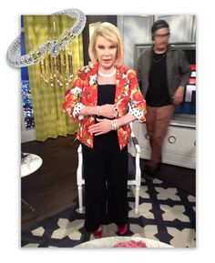 Look who was showing off her Vahan again! Joan Rivers was flashing six bracelets with a chunky onyx ring back stage while getting ready for another episode of E!'s hit show Fashion Police. #VahanCelebs See the episode here: http://www.hulu.com/watch/374039