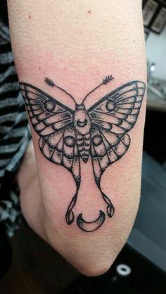 Mr Luna Moth -free spirit tattoo sexy arm tattoo