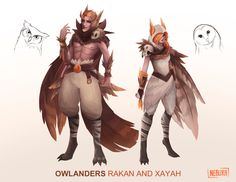 [SKIN CONCEPT] Owlanders Rakan and Xayah by The0utlander