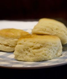 Old Fashioned Angel Biscuits These biscuits are the perfect mix between a structered biscuit and a flaky light dinner roll, thanks to the addition of yeast.  The dough also keeps for days in the refrigerator.  - My Country Table - www.mycountrytable.com