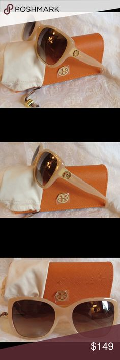 NWT Tory Burch ty7086a Light Pink Nude Sunnies NWT Tory Burch ty7086a 1282/13 light pink Sunnies Time for some new fabulous authentic designer shades!!  Frame:   Blush Pink Lens: Dark Brown Gradient  These are PERFECT Flawless NEVER even worn or tried on. It's just reflections that might make they look like there are issues, they are again Perfect!  Comes with original bag with tags from Luxottica, case and dust bag. All of my items are Guaranteed 100% Genuine I do not sell FAKES of any kind…