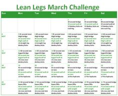 Lean Legs March Challenge!   Want to get in on it with me? Stay tuned on www.facebook.com/NoellSoleRadiantLiving