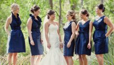 Navy Bridesmaids, Louisiana Wedding