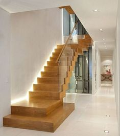 Home interior staircase design modern homes interior stairs designs ideas n Staircase Design Modern, Home Stairs Design, Contemporary Stairs, Modern Stairs, Interior Stairs, Contemporary Home Decor, Modern Design, Staircase Glass Design, Stair Design