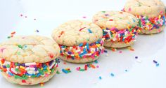 MINI's 4Pack Cheery Confetti CookieWiches by tookies on Etsy