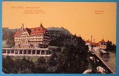 AK Wildbad, Schwarzwald, Hotel, Sommerberg mit Bahn  circa 1910