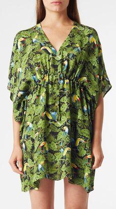 Riva Kaftan Dress | Toucan Print - ONE SIZE FINAL SALE