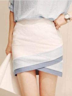 Zanzea Slim Waist White Mini Skirt Free Shipping! - AU$14.55