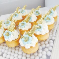 Blue tones mini tarts for a baby shower...  #fruittarts #tarts #babyshower#baby #showerparty #anougebakes #ladesserts #onlythebestforourclients #flowers #floral #frenchsesserts #pretty #kidsparty #yummy