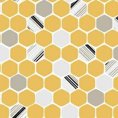 Michelle Engel Bencsko - iHaus - Hexagons in Yellow