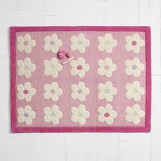 Daisy Chain Rug, Pink