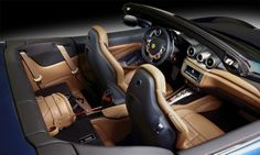 The Ferrari California T interior