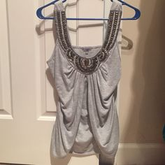 Grey tank top Grey goddesses top. Size M Charlotte Russe Tops Tank Tops