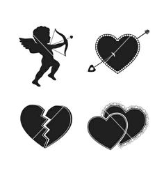 Set of valentine tattoos vector - by macrovector on VectorStock®