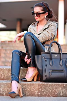 leather+camo+Celine= #perfectcombo