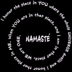 Namaste Meaning in Sacred Spiral Organic Womens T