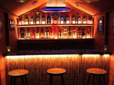 Lodge's Tiki Bar | 16 Top Of The Line Man Caves You Must See