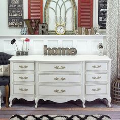 SOLD White & Gold French Provincial dreser  SOLD by VintageRehabs