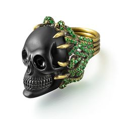 Onyx Skull Ring, Wendy Brandes Fine Jewelry