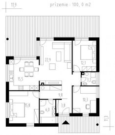 Výstavba rodinných domov - IDEÁLNE DOMY One Story Homes, Story House, Home Projects, Floor Plans, House Design, Houses, Architecture Design, House Plans, One Story Houses