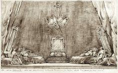 FAUST atto IV scena 2 Teatro Comunale di Bologna Stagione Lirica 1974 - 1975 FAUST musica di Charles Gounod  Regia Luca Ronconi Scene e Costumi Pier Luigi Pizzi