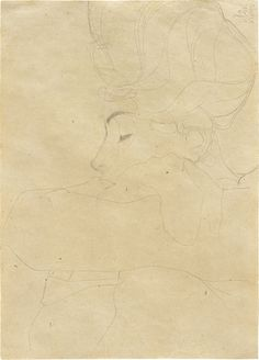 Egon Schiele | Portrat einer Dame (Portrait of a Woman) (1908) | Artsy