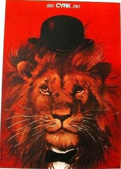 # 21 Lion face with derby (1983)  https://www.contemporaryposters.com/poster.php?number=0160