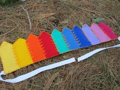 Waldorf Rainbow Crown, Handmade With Wool Felt. $45.00, via Etsy.