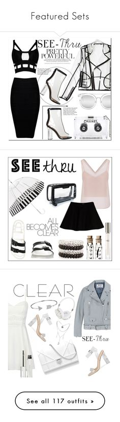 """""""Featured Sets"""" by polyvore ❤ liked on Polyvore featuring Chanel, Wanda Nylon, Quay, Tiffany & Co., clear, seethrough, Seethru, Chloé, JuJu and New Look"""