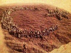 Çanakkale Savaşı' nda askerlerimizin yaptığı ay-yıldız.