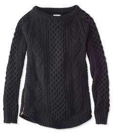 LLBean: Signature Cotton Fisherman Tunic Sweater | Stocking ...