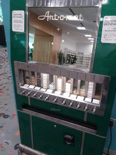 """This local library has a mini art vending machine, so you can take a little piece of history home with you: 17 Libraries That'll Make You Say, """"My Library Needs That! Mini Vending Machine, Cigarette Vending Machine, Vending Machines, Mini Library, Local Library, Art O Mat, What Book, Art Drawings Sketches Simple, Art Station"""