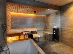 Kung Swiss Saunas are truly stunning. Prestige Saunas are proud to the the only UK supplier of Kung Saunas - contact us for more details. Basement Sauna, Sauna Room, Diy Sauna, Home Spa Room, Spa Rooms, Spa Bathroom Design, Bathroom Spa, Spa Jacuzzi, Spa Interior Design