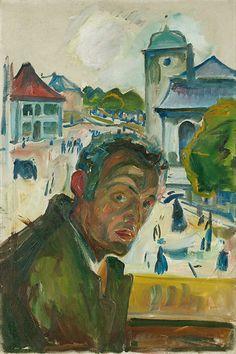 Edvard Munch / Self Portrait in Bergen / 1916