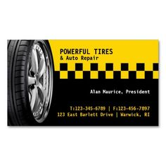 Tires Auto Repair Business Card