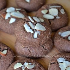 Protein Treats by Nicolette: Chocolate Almond Protein Cookies