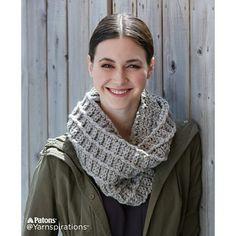 Wafflin' Around Crochet Cowl pattern by Patons