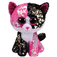 """TY Beanie Boos Yappy the Chihuahua 10/"""" MED w// Reversible Sequins Red Heart Tag"""