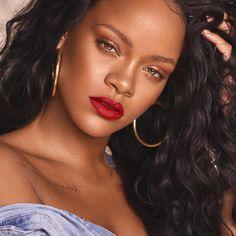 Mattemoiselle Plush Matte Lipstick FENTY BEAUTY by Rihanna ($18) ❤ liked on Polyvore featuring beauty products, makeup, lip makeup and lipstick