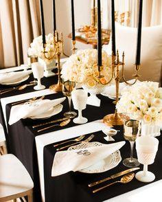 Schwarz mit goldenen Akzenten  #Hochzeit #wedding #Hochzeitsmotto #Hochzeitsfarben
