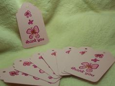 Items similar to 8 Piece Set of So Adorable Butterfly Trio Thank You Scrapbooking Hang Tags on Etsy Handmade Tags, Hang Tags, Butterfly, Scrapbook, Unique Jewelry, Etsy, Vintage, Scrapbooking, Costume Jewelry